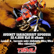 Avoimet sarjacrossit Sipoossa 22.4.2017