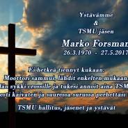 Marko Forsman on poistunut keskuudestamme!