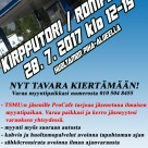 Kirpputori / Rompetori ProCafe Raision piha-alueella 28.7.2017 klo 12-19